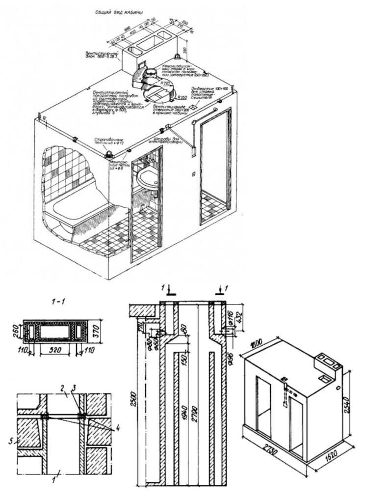 Схема сантехкабины